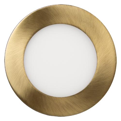 Светильник встраиваемый LED 10 W  круг золото ТМ 220