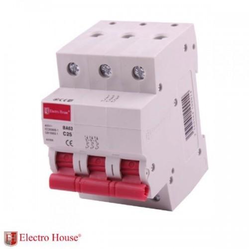 Автоматический выключатель 3р 25А