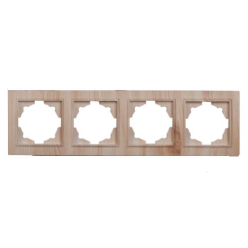Рамка четырехместная светлое дерево Enzo