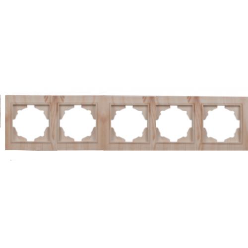 Рамка пятиместная светлое дерево Enzo
