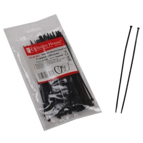 Стяжка кабельная черная 3×150