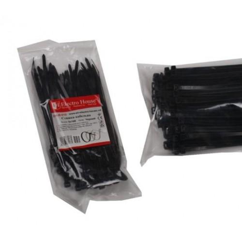 Стяжка кабельная черная 5×160