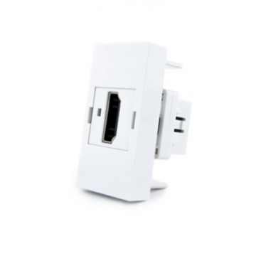 Розетка HDMI на 1/2 поста Livolo (модуль) белый