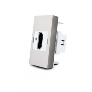 Розетка HDMI на 1/2 поста Livolo (модуль) серая