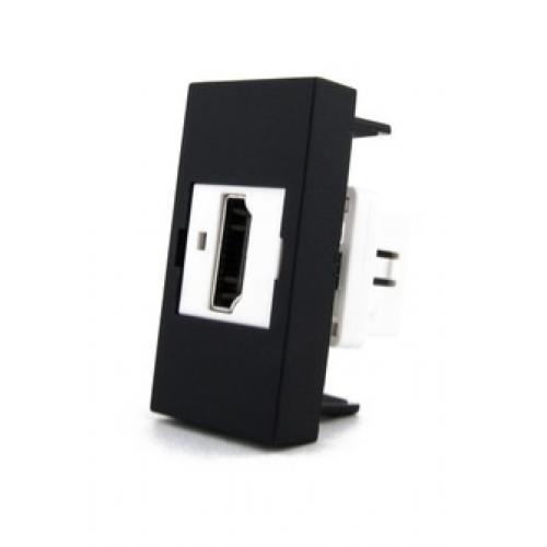 Розетка HDMI на 1/2 поста Livolo (модуль) черная
