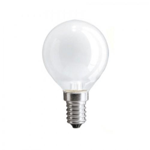 Лампа накаливания PHILIPS P-45 шар. Е14 мат. 60W