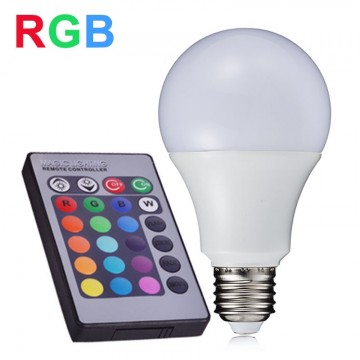 Лампа LED RGB A60 9W E27 4000K RIGHT HAUSEN HN-151079