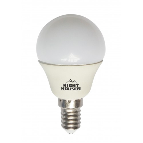 Лампа RIGHT HAUSEN LED ШАР 5W E14 2700K, P45 HN-155011